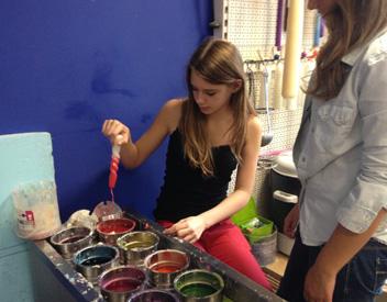Kinderfeestje kaarsen maken